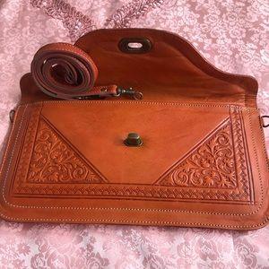 Leather Moroccan Wallet, wristlet, handbag, purse